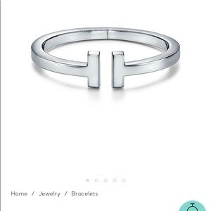 Tiffany T Square Bracelet Sterling Silver Medium